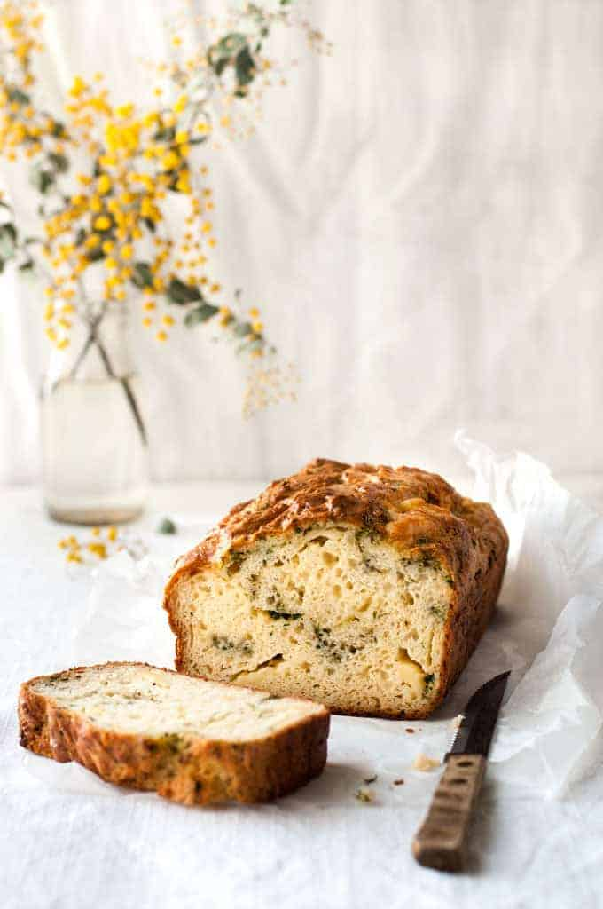 Cheese Herb and Garlic Quick Bread - true to its name, this no yeast bread is QUICK to prepare! Love the pockets of cheese and herb in this. www.recipetineats.com