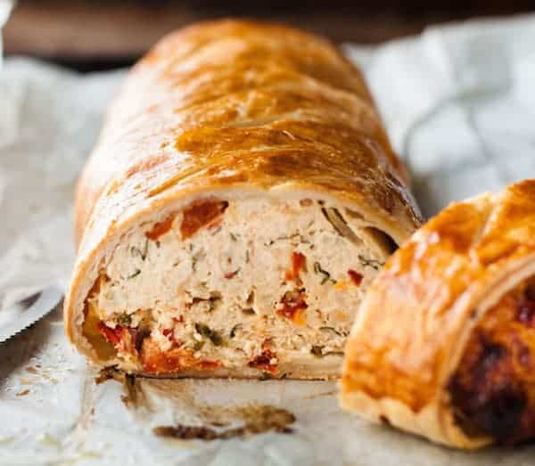 Chicken Meatloaf Wellington with Sun Dried Tomatoes | RecipeTin Eats