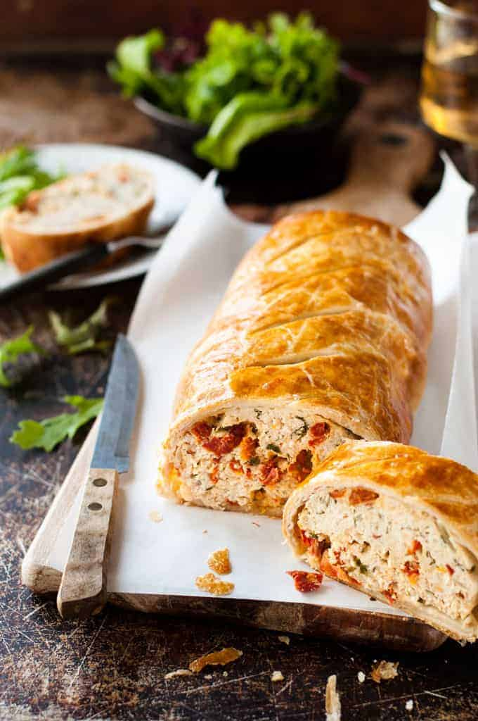Sliced Chicken Meatloaf Wellington