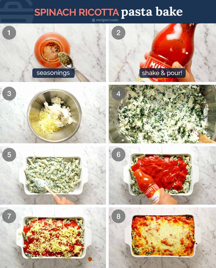 How to make Spinach Ricotta Pasta Bake