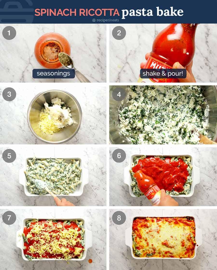 How to make Spinach Ricotta Pasta Bake