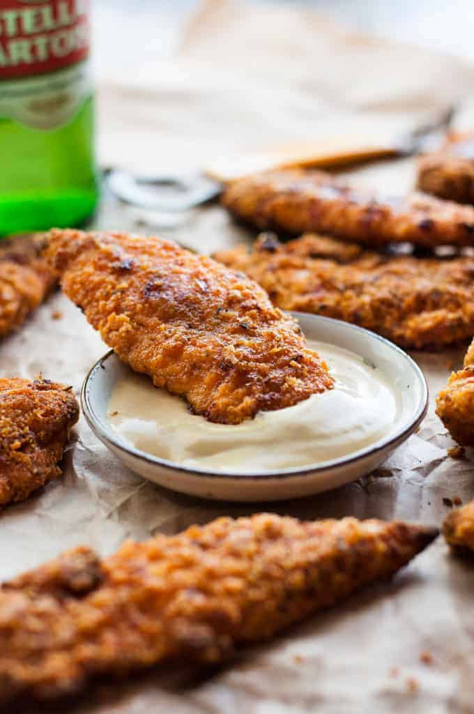 oven fried chicken tenders kfc baked oven fried chicken tenders recipetin eats 11983