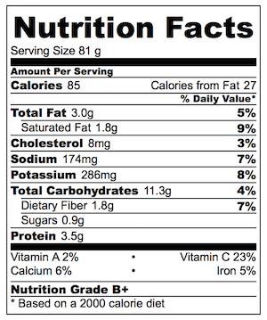 Mini Potato Gratin Stacks Nutrition