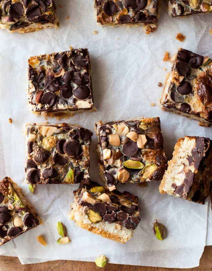 No Bowl Chocolate Nut Bars - made from scratch without dirtying a single bowl!