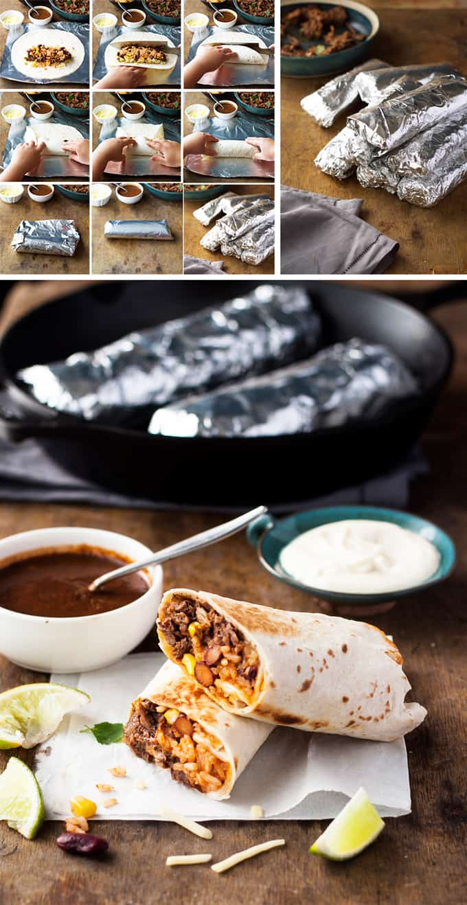 How to make Shredded Beef Burritos