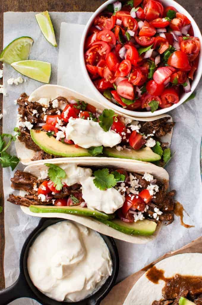 Shredded Beef Tacos - easy to make, in the slow cooker, on the stove or even in the oven!