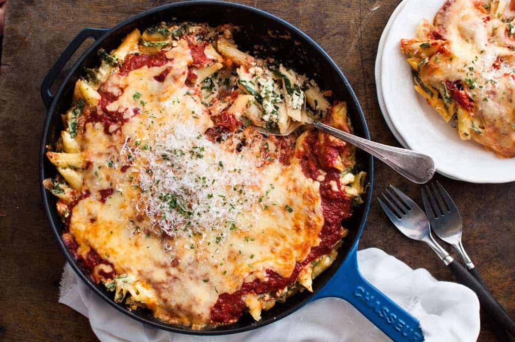 Spinach & Ricotta Pasta Bake | RecipeTin Eats