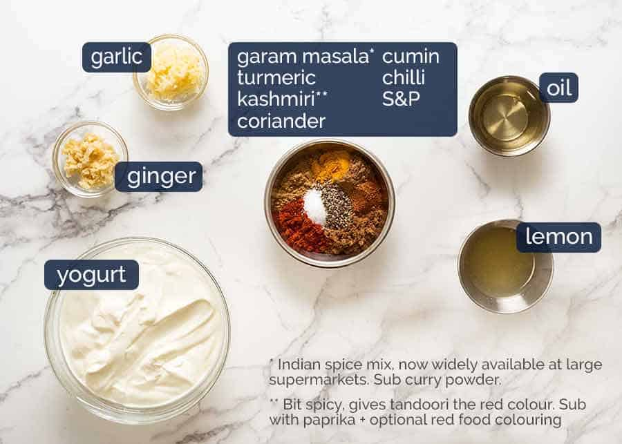 Ingredients in Tandoori chicken marinade