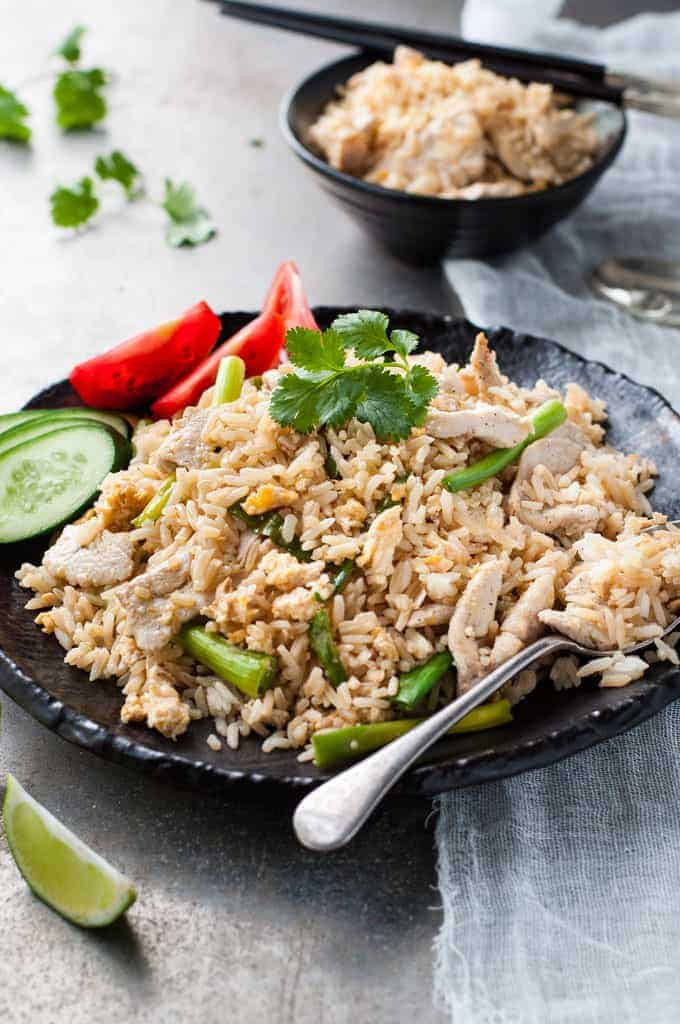 Thai chicken fried rice recipetin eats real thai chicken fried rice just like you get in thailand and from thai restaurants ccuart Image collections
