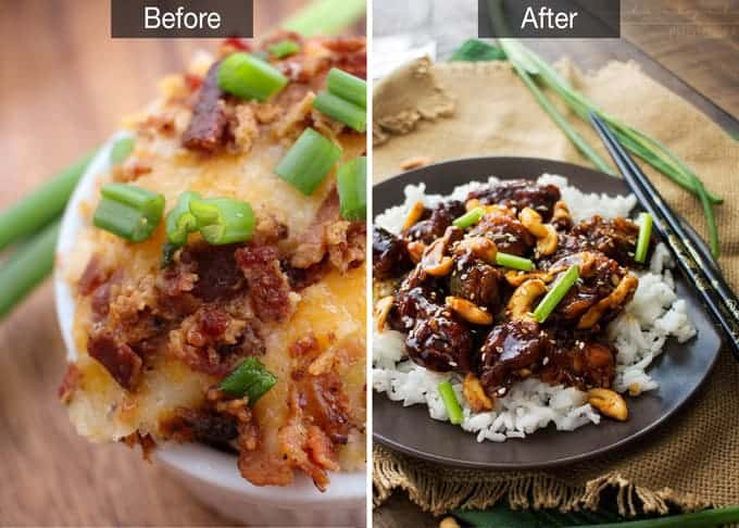 The Food Photography Book by Nagi of RecipeTin Eats | Before & After - www.thechunkychef.com