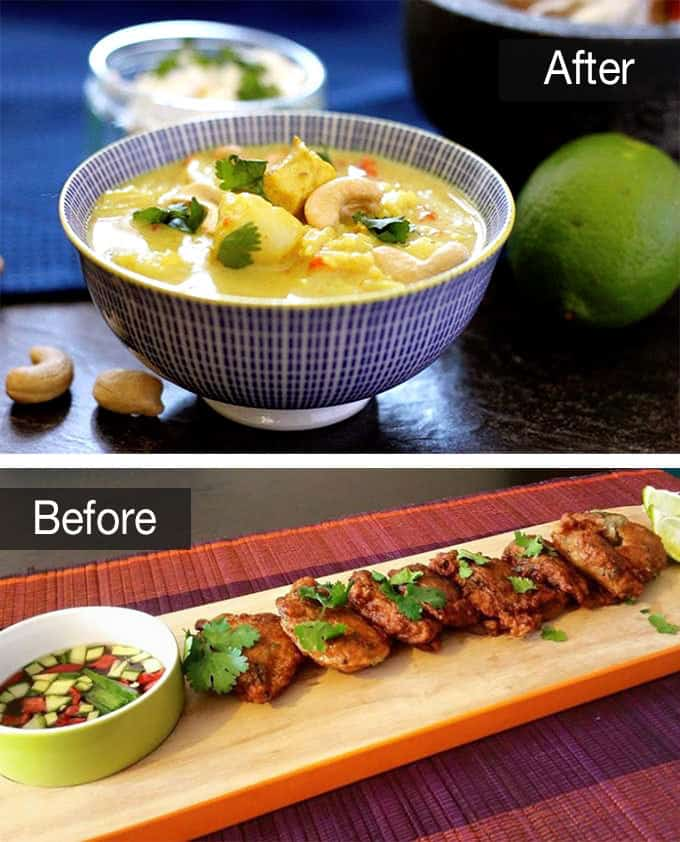 The Food Photography Book by Nagi of RecipeTin Eats | Before & After - www.littlekitchenblue.com