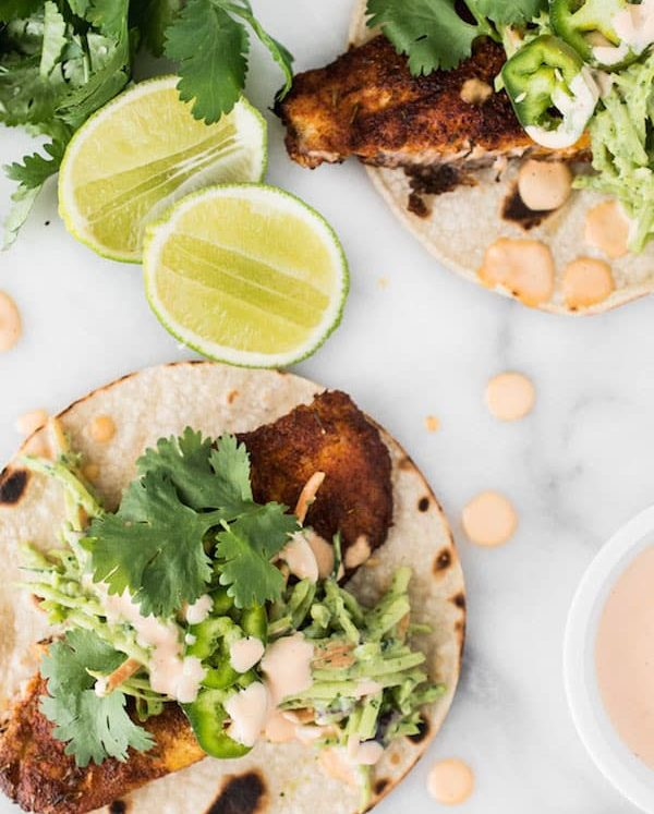 Blackened Fish Tacos - a handful of pantry spices makes a rub packed full of flavour for these fish tacos!