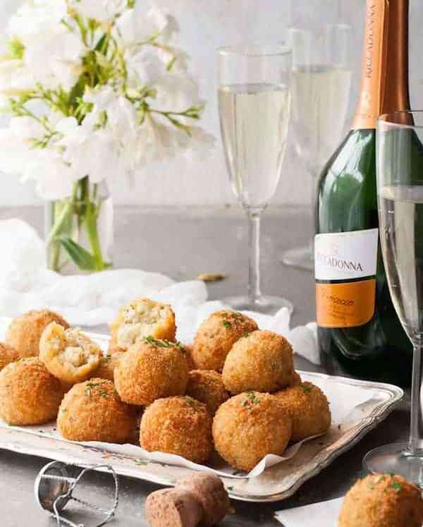 Cheesy Italian Arancini Rice Balls - Sensational for making ahead!