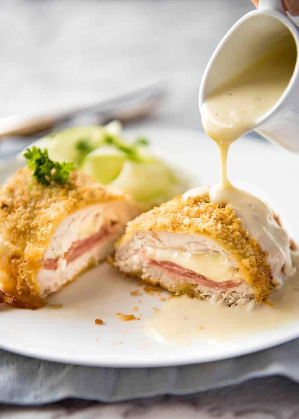 Easy Chicken Cordon Bleu Recipetin Eats