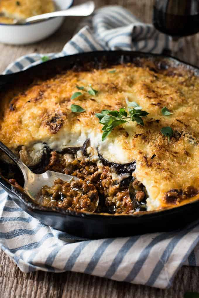 Greek Moussaka Eggplant Beef Bake Recipetin Eats