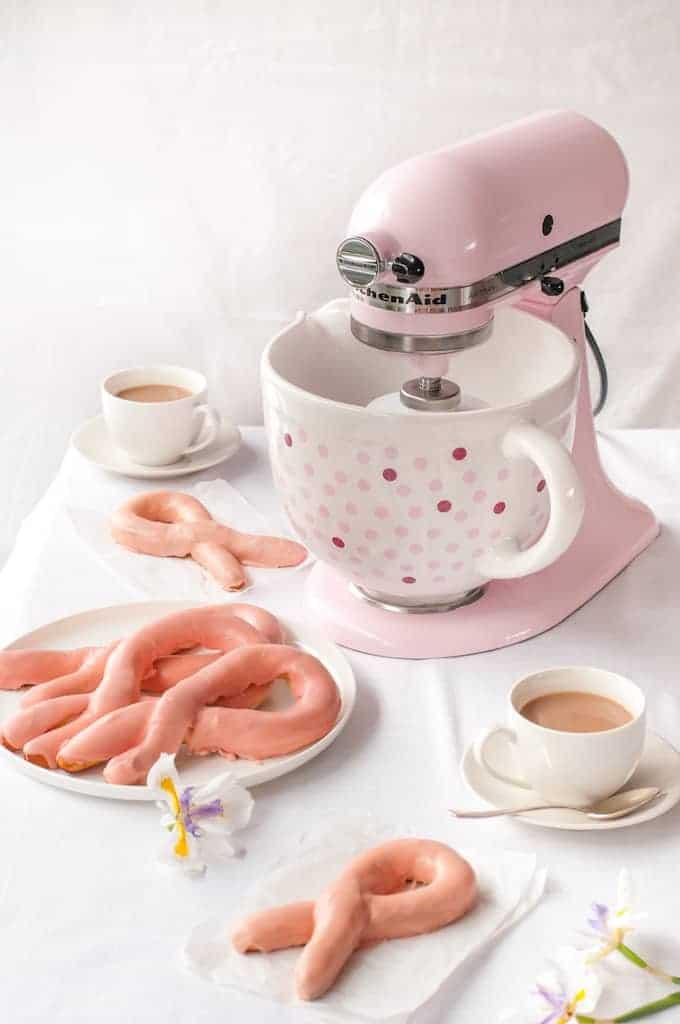 Pink Ribbon Pretzels - For Breast Cancer Awareness. Classic soft baked pretzels coated in a yummy pink glaze!