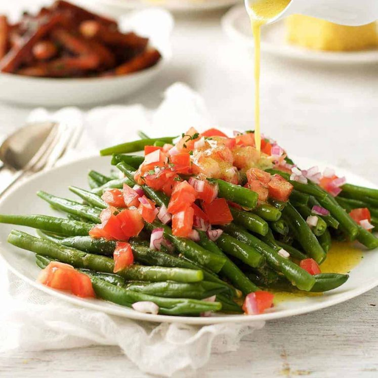Green Bean Salad - Super easy salad that can be largely made ahead