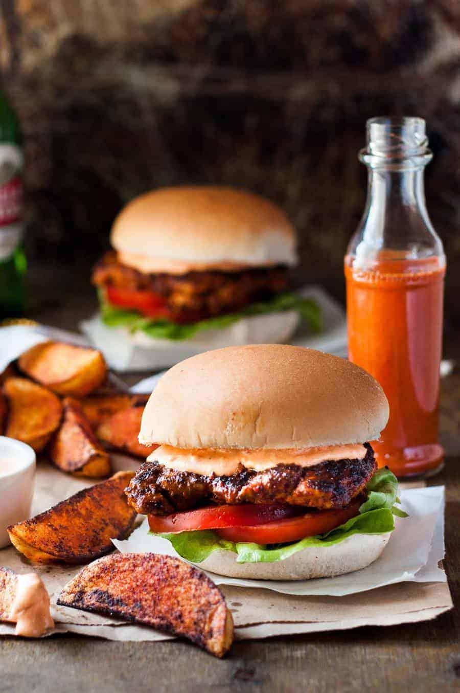 Nando S Portuguese Chicken Burgers Amp Super Food Ideas Magazine Recipetin Eats