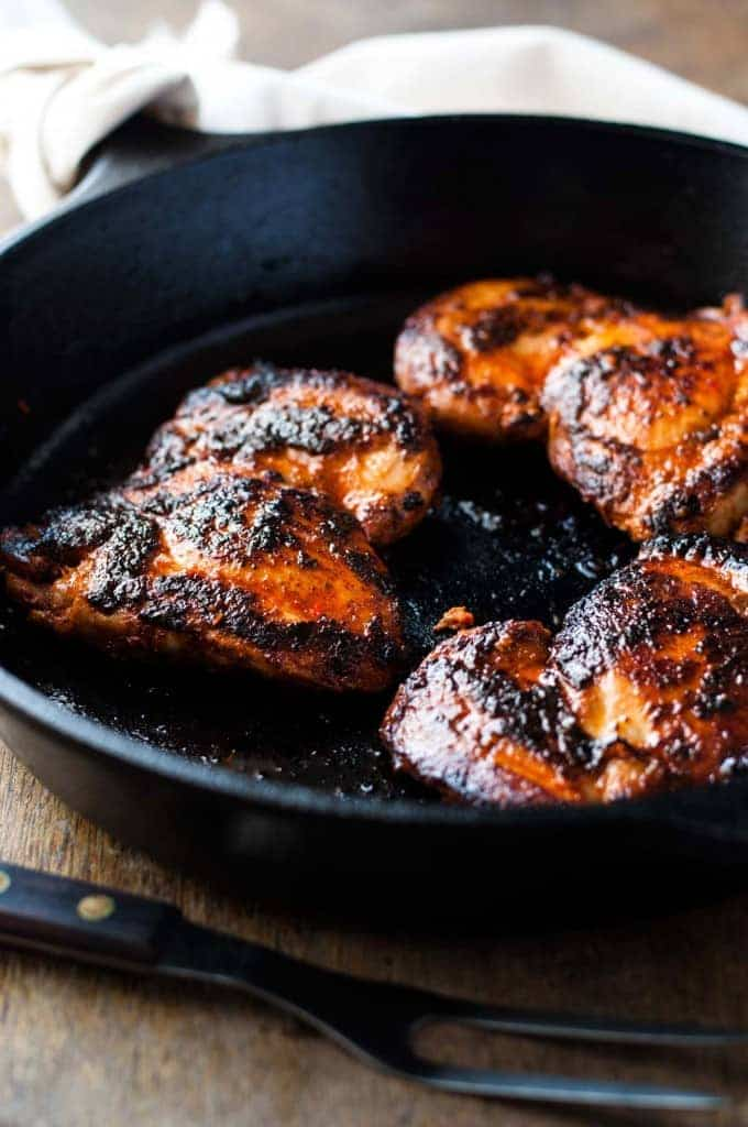 Peri Peri Chicken cooking in pan