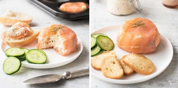 Smoked Salmon Dip or Pots - 5 minutes to make, serve this as a dip or as pots for a elegant dinner! #appetizer #partyfood #dip #smokedsalmon