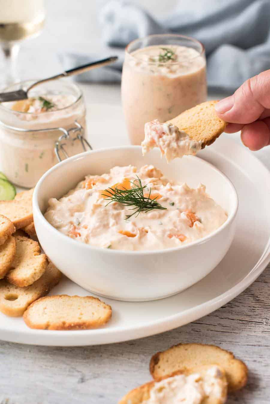 Smoked salmon dip with cream cheese recipe for Smoked fish dip recipe