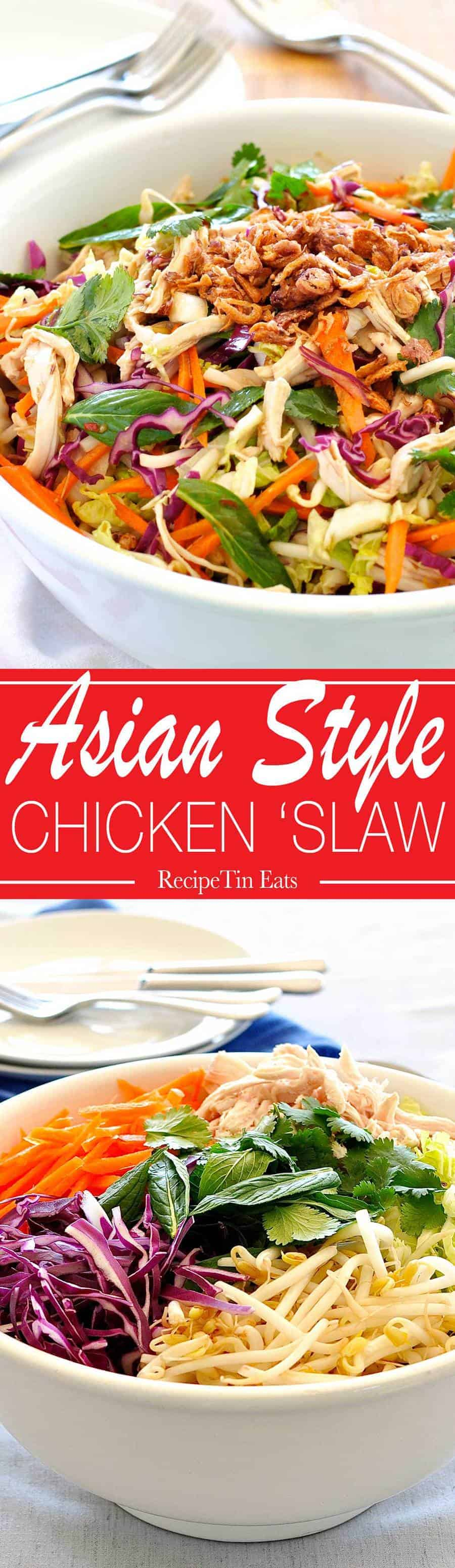 Asian Chicken Salad | LOVE the dressing for this, very restaurant quality. I make this without chicken too!