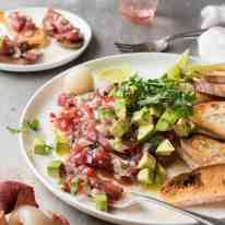 Tuna Tartare with Lychees - Simple and elegant to make, a great starter that's healthy too!