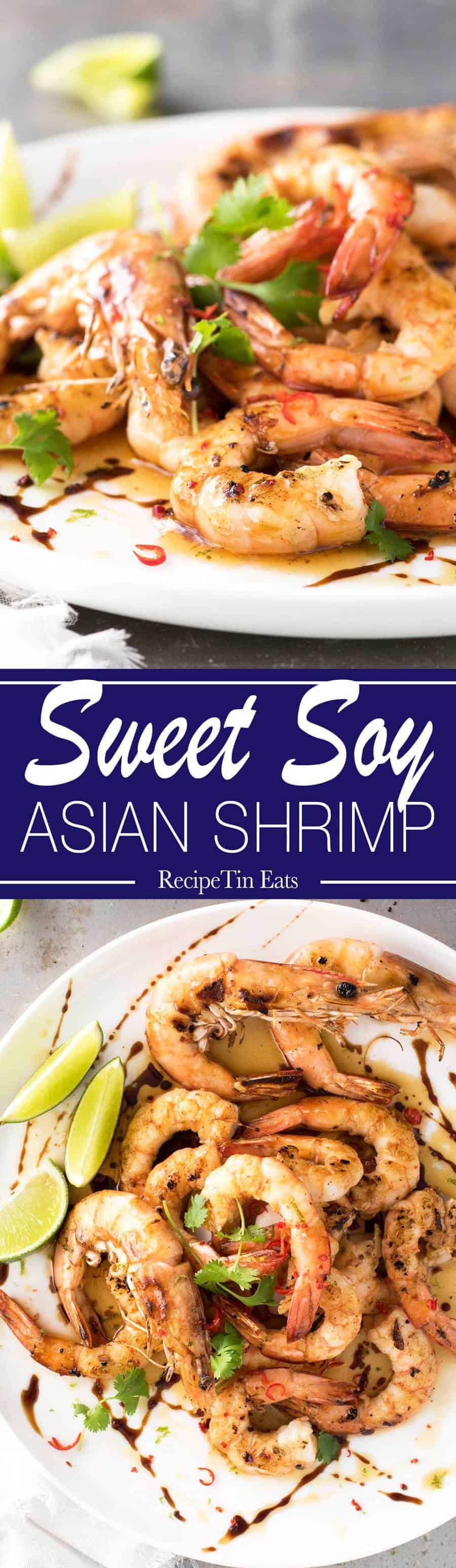 Sweet Soy Asian Shrimp   These are AMAZING!!! Browned butter with sweet soy is a KILLER COMBO!!!