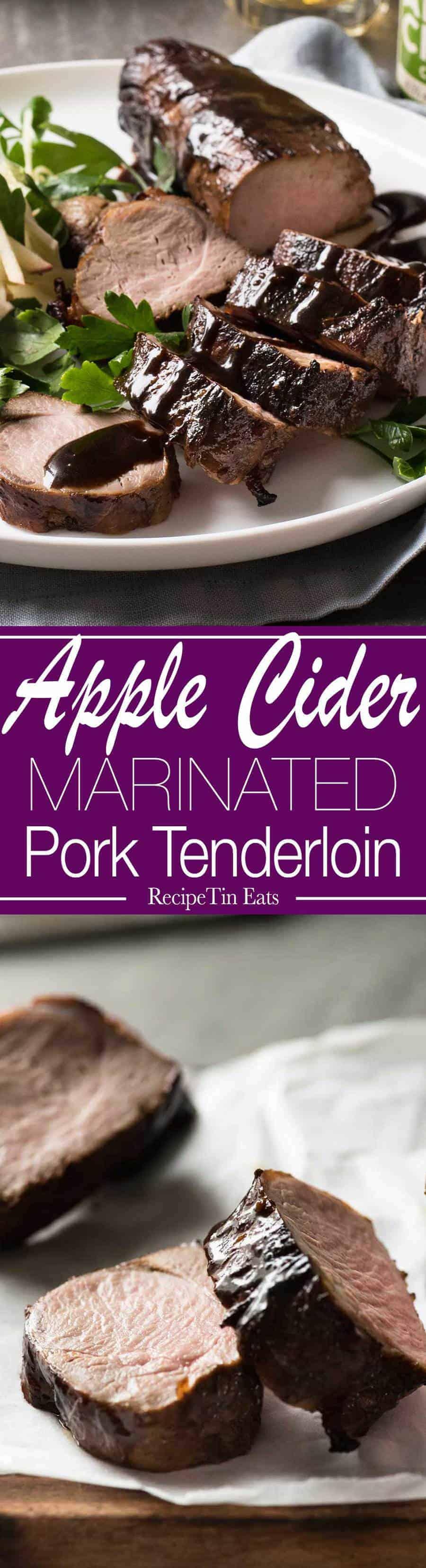 Apple Cider Marinated Pork Tenderloin   This is amazing! The apple cider really tenderises the pork!! LOVE the glaze