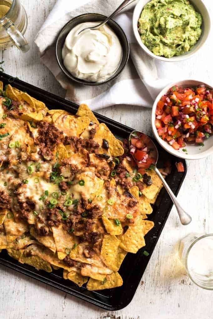 Ripper Beef Nachos - The secret to the ultimate nachos is a 5 ingredient, 5 minute Nachos Cheese sauce!