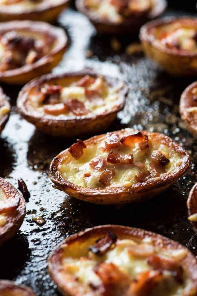 Cheese & Bacon Potato Skins - Extra bacon flavour, extra crispy and extra tasty!