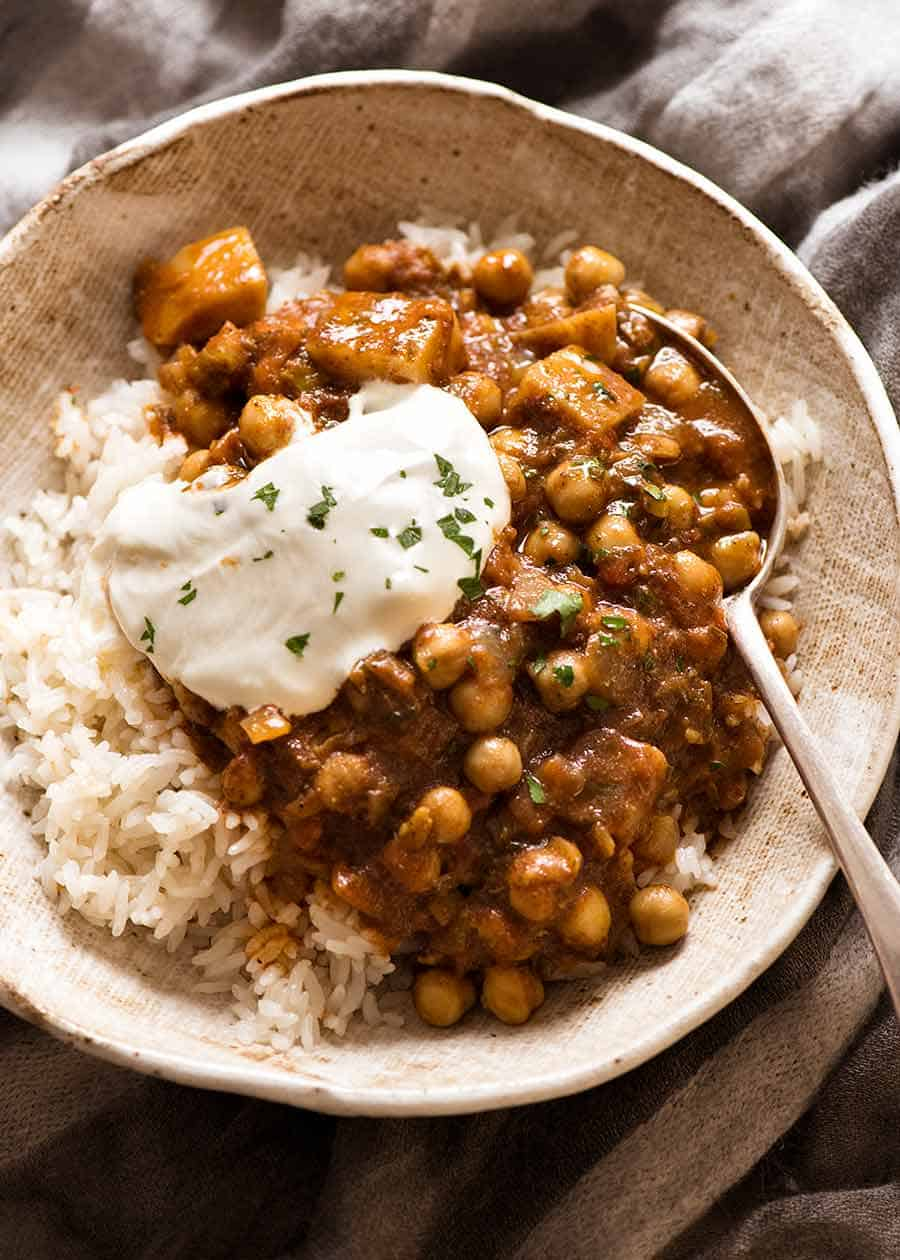 Chickpea Curry With Potato Chana Aloo Curry Recipetin Eats
