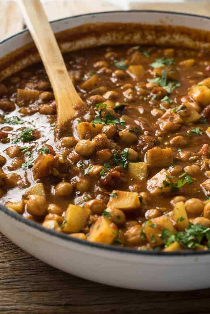 Easy Chickpea Amp Potato Curry Chana Aloo Curry