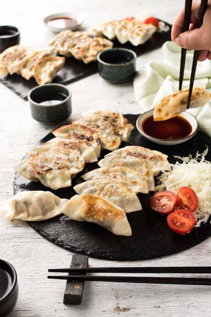 Japanese Gyoza Dumplings Recipetin Eats