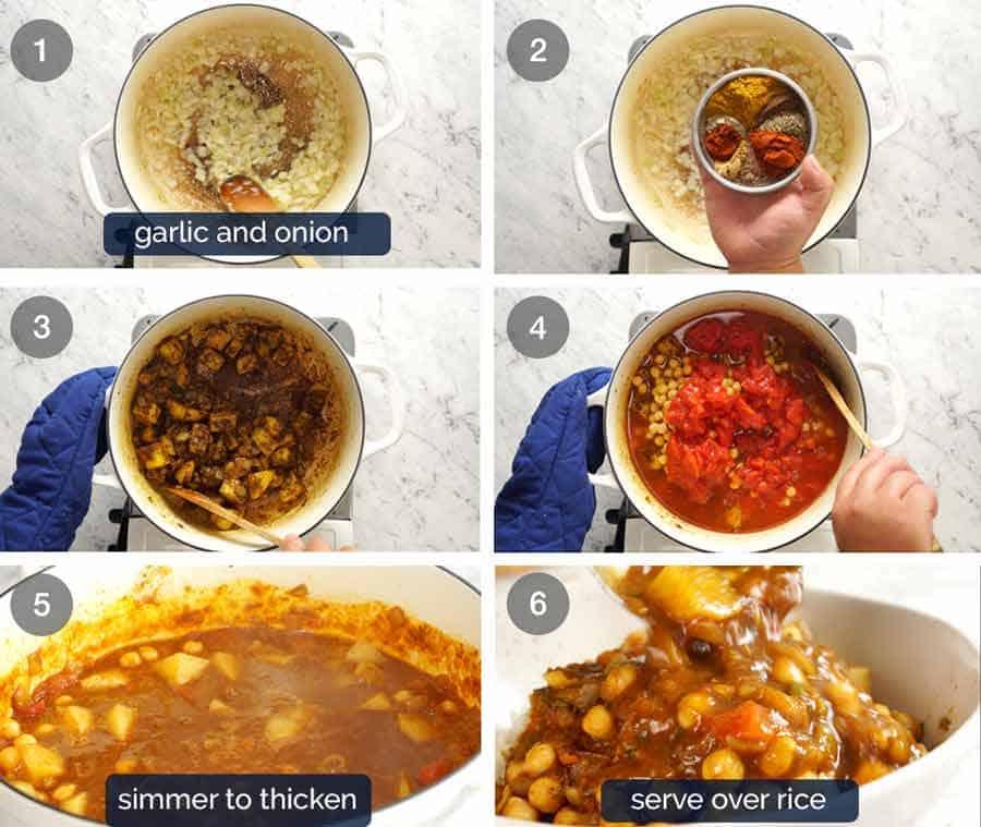 How to make Chickpea Curry (Chana Aloo)