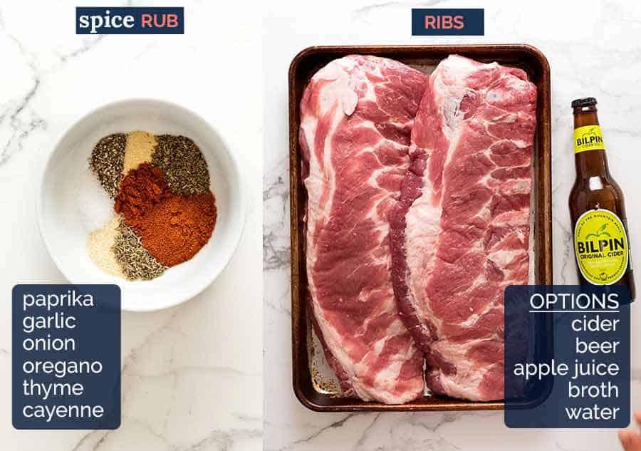 Barbecue Rub for oven pork ribs