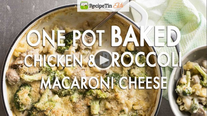Baked-Mac-and-Cheese-Chicken-Broccoli-video-cover-play-button