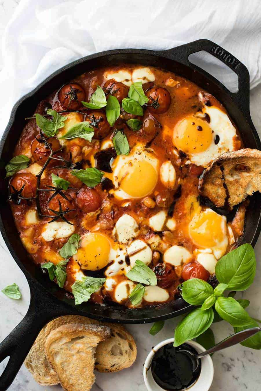 Caprese Baked Eggs Recipetin Eats
