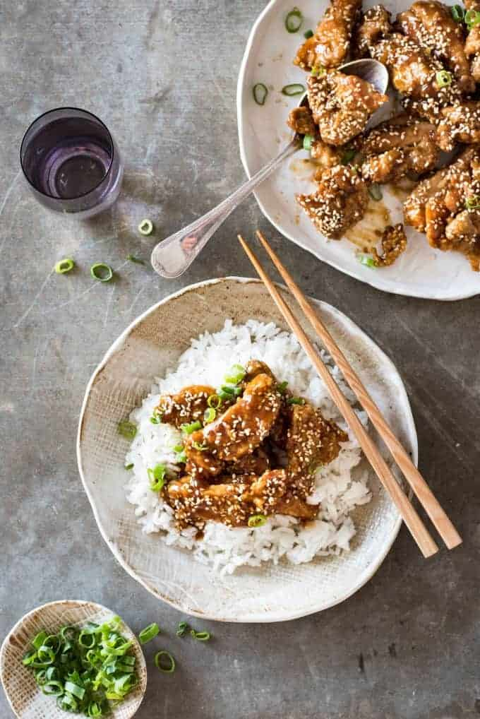 Overheard photo of Chinese Honey Sesame Chicken