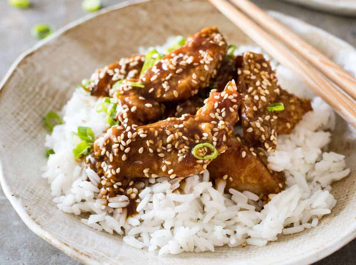 Asian honey sesame chicken recipe