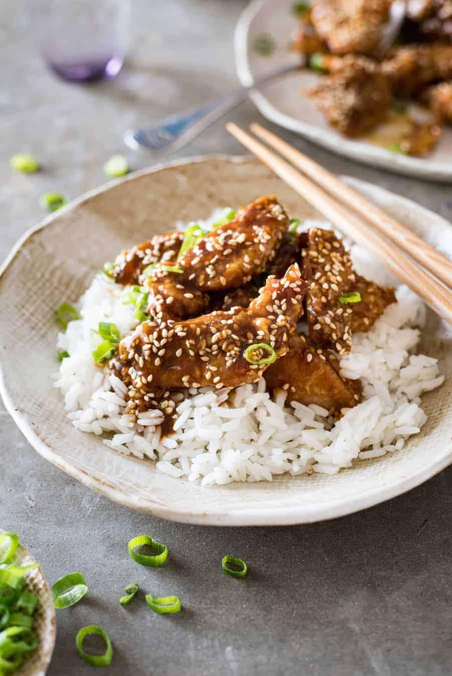 Easy Chinese Honey Sesame Chicken Recipetin Eats