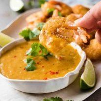 Coconut Shrimp / Prawns with Spicy Thai Mango Sauce