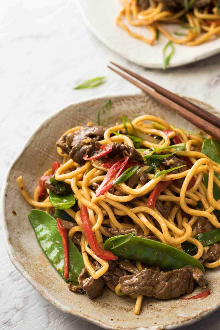 Spicy Beef Hokkien Noodles Recipetin Eats