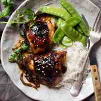 Sticky Honey Soy Baked Chicken - No marinating required, just a handful of pantry essentials for a spectacular sticky chicken!