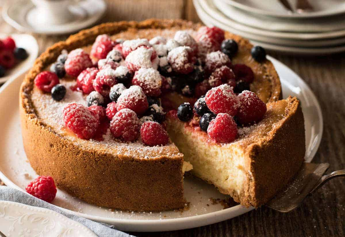 Easy Classic Baked Cheesecake | RecipeTin Eats