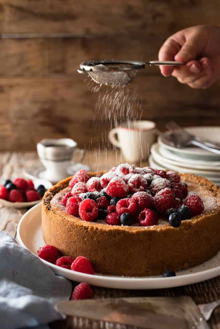Easy Classic Baked Cheesecake - Creamy and rich, yet light, with a couple of secret tips, this is surprisingly easy to make! Video tutorial included.