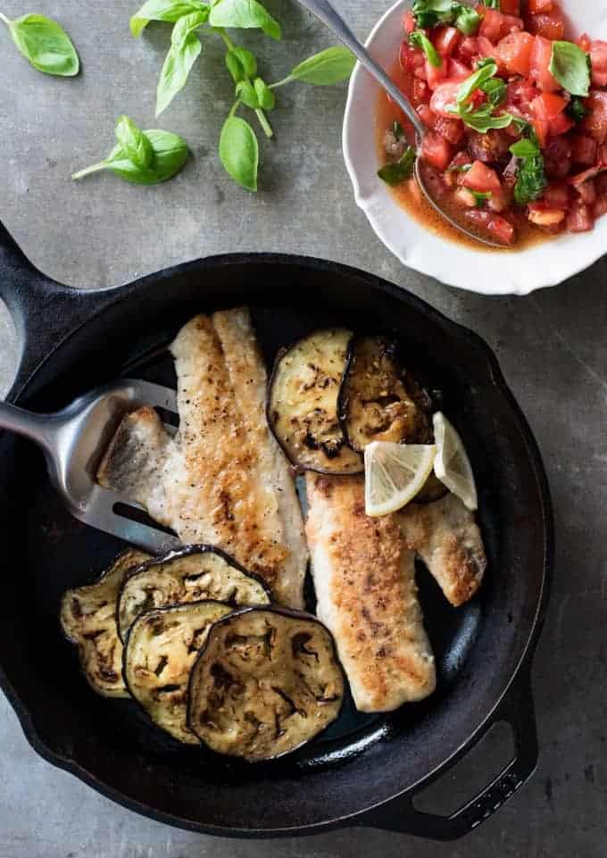 Italian Fish with Spicy Salsa - Fresh, full of flavour and fast to make, it's Italy on a plate!