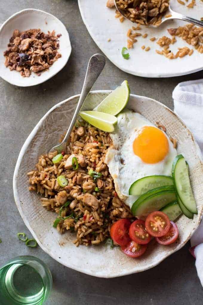 Nasi goreng indonesian fried rice recipetin eats nasi goreng traditional indonesian fried rice full of flavour easy to make and ccuart Images
