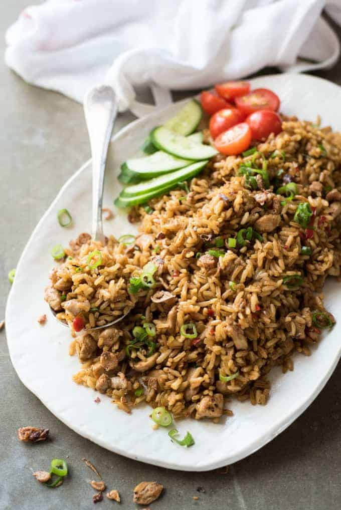 Nasi goreng indonesian fried rice recipetin eats nasi goreng traditional indonesian fried rice full of flavour easy to make and ccuart Image collections