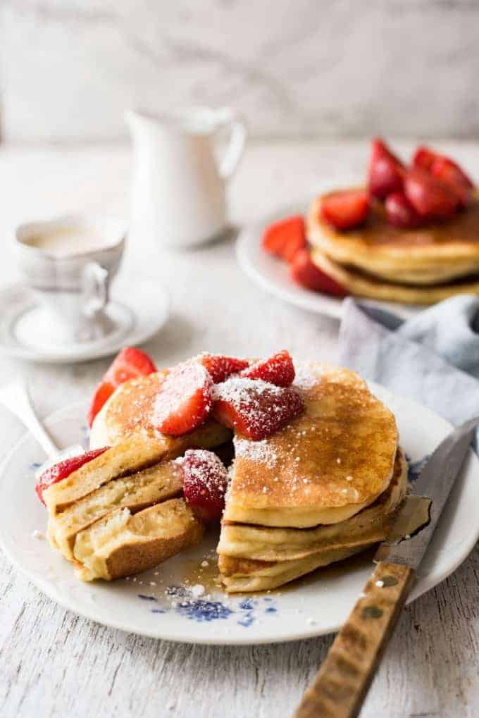 Fluffy ricotta pancakes recipetin eats ricotta pancakes so much more moist than ordinary pancakes and so easy to make ccuart Gallery